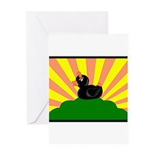 Devil Duck Greeting Card