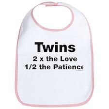 Twins: Love & Patience Bib