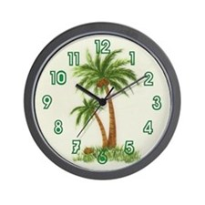 Twin palms Wall Clock