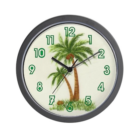 Twin palms Wall Clock