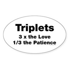 Triplets Love & Patience Decal