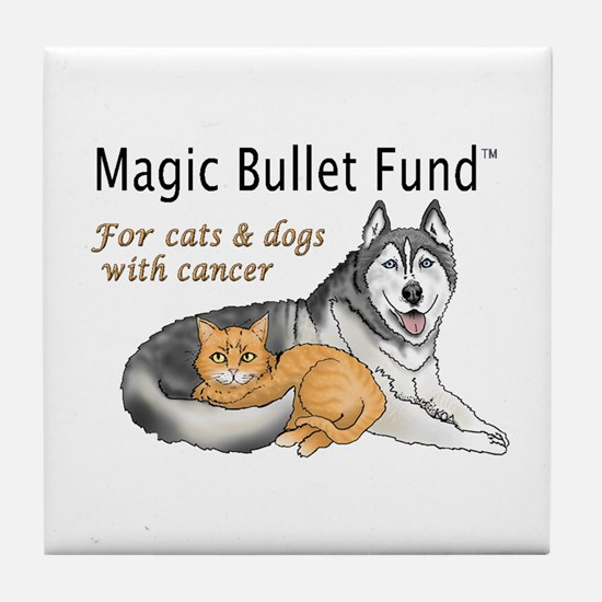 Cute Canine cancer Tile Coaster