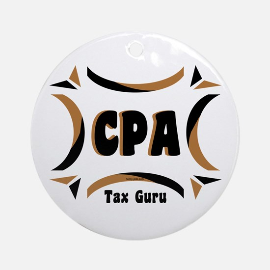 CPA Tax Guru Ornament (Round)