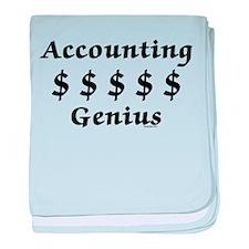 Accounting Genius baby blanket