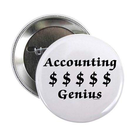 """Accounting Genius 2.25"""" Button (10 pack)"""