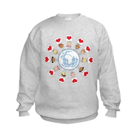 Heart's Around the World Kids Sweatshirt