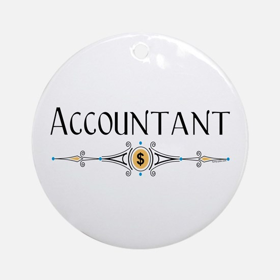 Accountant Decorative Line Ornament (Round)