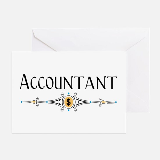 Accountant Decorative Line Greeting Card