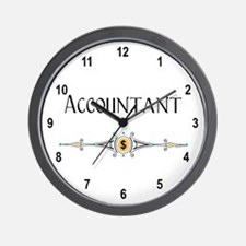 Accountant Decorative Line Wall Clock