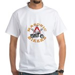 Masonic Bikers White T-Shirt