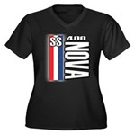 Nova 400 Women's Plus Size V-Neck Dark T-Shirt