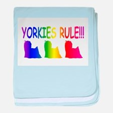 Yorkshire Terrier baby blanket