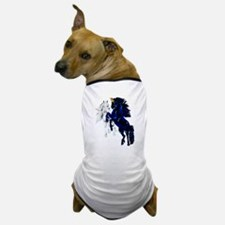 Two Unicorn Stallions Dog T-Shirt