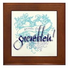 Sacrebleu! Framed Tile