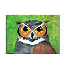 Owl Postcards (Package of 8)