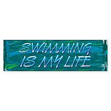 Swim Life Bumper Sticker