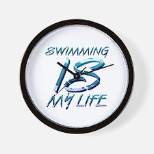 Swim Life Wall Clock