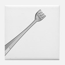 Stick a fork in me. I'm done. Tile Coaster