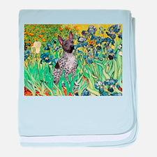 Irises-Am.Hairless T baby blanket