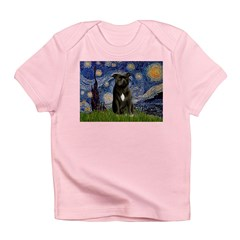 Starry-Am.Staffordshire (blk) Infant T-Shirt