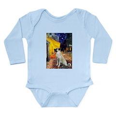 Cafe-AnatolianShep2 Long Sleeve Infant Bodysuit