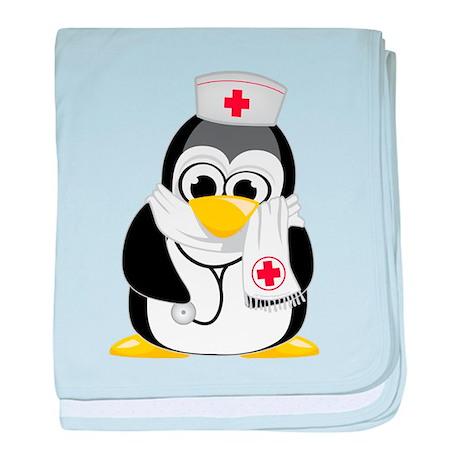 Nurse Scarf Penguin baby blanket