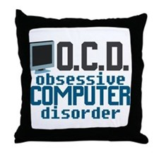 Funny Computer Throw Pillow