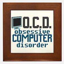Funny Computer Framed Tile
