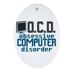 Funny Computer Ornament (Oval)