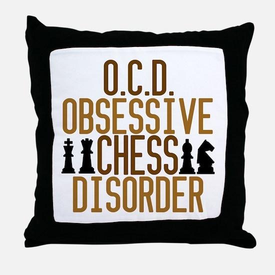 Funny Chess Addict Throw Pillow