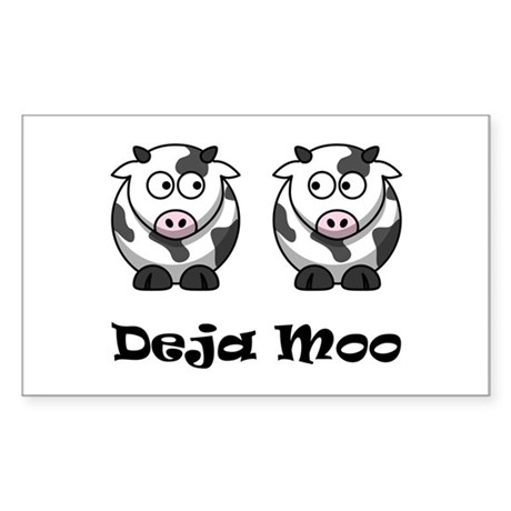 Deja Moo Sticker (Rectangle)