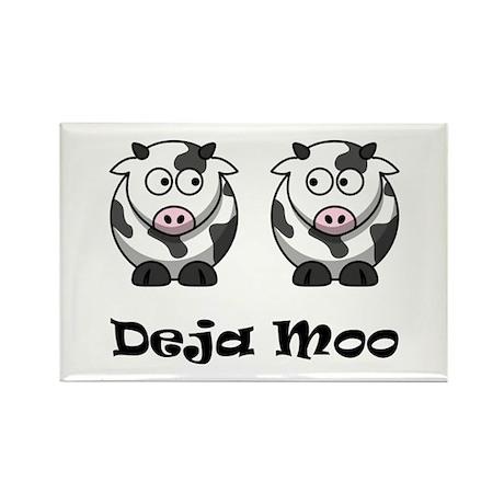 Deja Moo Rectangle Magnet (10 pack)