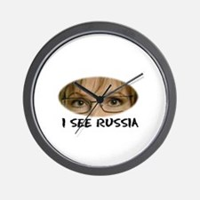 I See RUSSIA Wall Clock