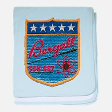 USS BERGALL baby blanket