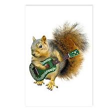 Squirrel Ukulele Postcards (Package of 8)