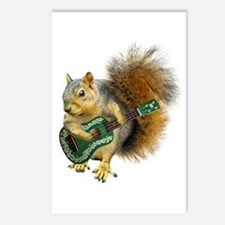 Squirrel Ukulele Postcards (Package of 8)