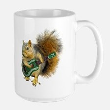 Squirrel Ukulele Large Mug