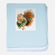 Squirrel Ukulele baby blanket