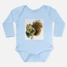 Squirrel Ukulele Long Sleeve Infant Bodysuit