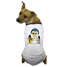 Hanukkah Scarf Penguin Dog T-Shirt