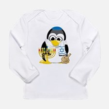 Hanukkah Scarf Penguin Long Sleeve Infant T-Shirt