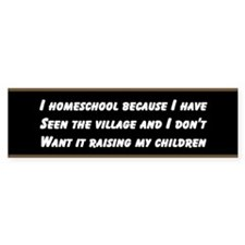 I HOMESCHOOL BECAUSE I HAVE SEEN THE VILLAGE...