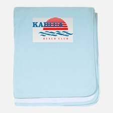 Cool Vacation club baby blanket