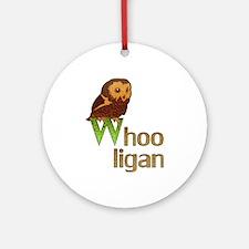 Whooligan Owl Ornament (Round)