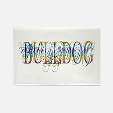Bulldog Rectangle Magnet