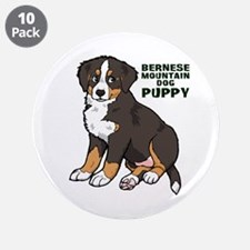"""Sitting Bernese Mountain Dog 3.5"""" Button (10 pack)"""