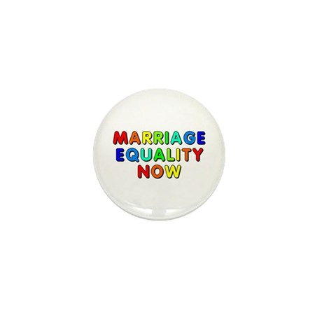 Marriage equality now Mini Button (100 pack)
