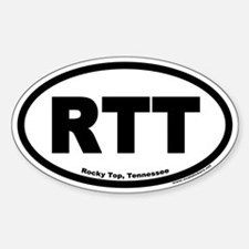Rocky Top Tennessee RTT Euro Oval Decal