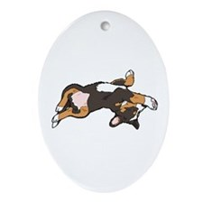 Sleeping Bernese Mountain Dog Ornament (Oval)