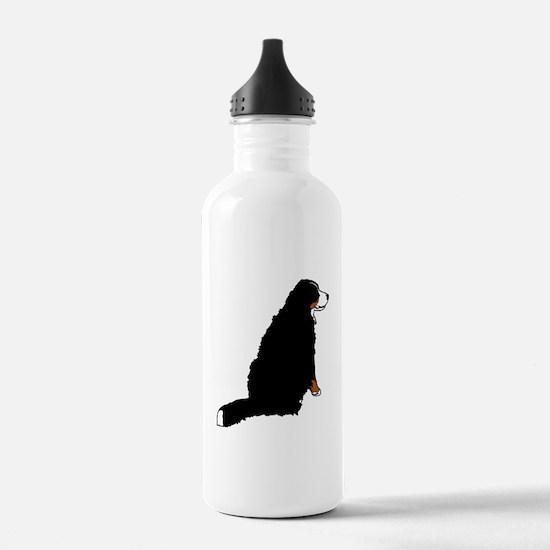 Sitting Bernese Mountain Dog Water Bottle